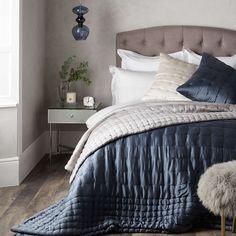 BuyJohn Lewis Boutique Hotel Silk Bedspread, L260 x W250cm, Wolf Grey Online at johnlewis.com