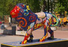Agnès Lyon City, Bus, Paris, Lion Sculpture, Statue, Montmartre Paris, Paris France, Sculptures, Sculpture