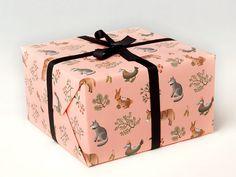 Farm Animals Wrapping Paper - Peach | clapclapdesign