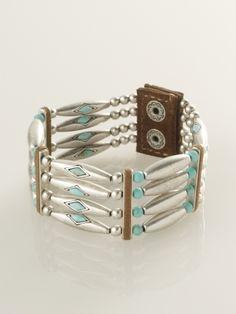 Turquoise-Silver Bracelet - Jewelry   Women - RalphLauren.com