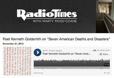 Kenneth Goldsmith interviewed yesterday on 'Radio Times' (WHYY/NPR): https://jacket2.org/content/goldsmith-radio-times