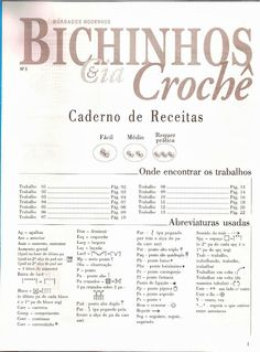 Revista De Crochê Amigurumi com receita em Português Crochet Bear Patterns, Crochet Designs, Amigurumi For Beginners, Diy Crafts Crochet, Craft Images, How To Make Toys, Crochet Magazine, Recipe Steps, Dog Pattern
