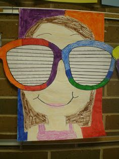 This would be such a fun spring or summer writing prompt for students to write down goals of what they want to do or see! {Free sunglasses template at blog post!}