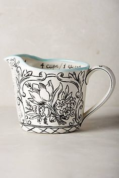 So cute!!! $24  Storybook Flora Measuring Cup at Anthropologie