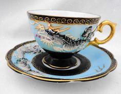 SHAFFORD JAPAN TEXTURE BIRD DRAGON TEA CUP AND SAUCER Tea Cup Set, My Cup Of Tea, Tea Cup Saucer, Dragon Tea, Teapots And Cups, Tea Art, How To Make Tea, Drinking Tea, Romantic Cottage