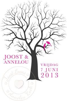 Weddingtree. Bent u op zoek naar een origineel gastenboek? www.letterlijn.nl