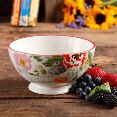 The Pioneer Woman Flea Market Country Garden Footed Bowl - Walmart.com