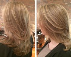 Natural highlights and styling by two of our talented artists at The Beauty Box in Rye, NY