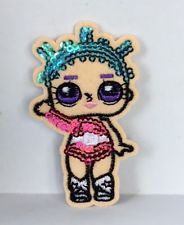 LOL DOLL SEQUIN  EMBROIDERED APPLIQUÉ PATCH SEW OR IRON ON GIRLS CHARACTER #112