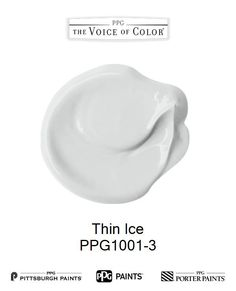 Thin Ice is a part of the Grays & Blacks collection by PPG Voice of Color®. Browse this paint color and more collections for more paint color inspiration. Get this paint color tinted in PPG PITTSBURGH PAINTS®, PPG PORTER PAINTS® & or PPG PAINTS™ products.
