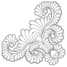 Corners and Borders - Quilts Complete - Longarm Continuous Line Quilting Patterns Machine Quilting Patterns, Applique Patterns, Quilt Patterns, Free Motion Quilting, Hand Quilting, Art Nouveau Pattern, Whole Cloth Quilts, Doodle Art Designs, Quilting Stencils