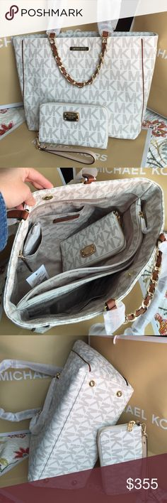 Michael Kors Set 100% Authentic Michael Kors Bag and Wallet, both brand new with tag! Michael Kors Bags Totes