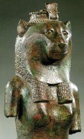 Bronze bust of the goddess Sekhmet, 21st-26th Dynasty, 1075-525 B.C.