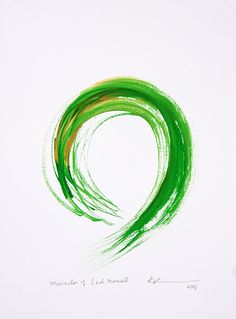 Original enso paintings for sale by Kaz Tanahashi portray the completeness of the perfect and imperfect in the zen circle. Circle Tattoos, Circle Logos, Birthday Background Images, Paint Strokes, One Stroke Painting, Create Words, Pen And Watercolor, Logo Design Inspiration, Paintings For Sale