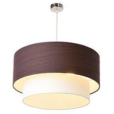 Lámpara de techo 2 luces Lia marrón
