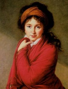 "Louise Elisabeth Vigee Le Brun, ""Portrait of Countess Varvara Golovina Madame Du Barry, Rey Luis Xvi, Festival Avignon, Turban Tutorial, Female Painters, Red Shawl, Elisabeth, Successful Women, French Art"