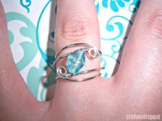 Learn how to make this pretty wire-wrapped ring.  So easy to do! #easywirewrappedrings