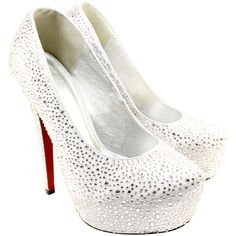 Diamante Covered Satin High Heel Shoes - lovely.
