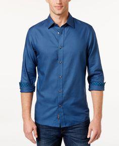 Michael Kors Men's Chant Gingham Long-Sleeve Shirt
