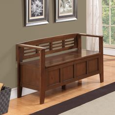 Adams Two Seat Bench with Storage