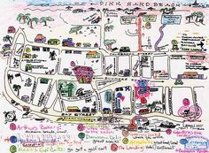 Harbour Island handdrawn map