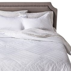 Threshold™ Pleated Comforter Set- Officially ours! Love this, nice and light for the summer. :-)