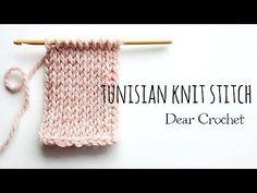 코바늘로 뜨개질 패턴을 떠보자 :터니시안 니트 스티치 (crochet Tunisian knit Stich)