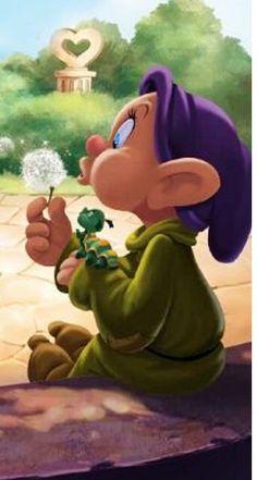*DOPEY ~ Snow White and the Seven Dwarf's, 1937 - coolstuff Walt Disney, Disney Love, Disney Pixar, Disney Characters, Disney Images, Disney Pictures, Disney Tattoos, Disney Animation, Snow White 7 Dwarfs