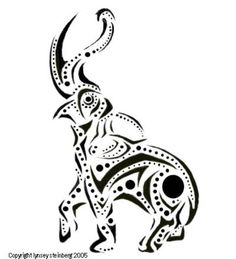 Attractive Black Tribal Elephant Trunk Up Tattoo Stencil By . Up Tattoos, Trendy Tattoos, Tribal Tattoos, Cool Tattoos, Tribal Elephant Tattoos, Tatoos, Elephant Trunk Up, Elephant Love, Elephant Art