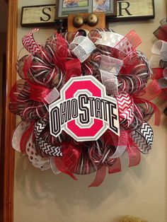 Ohio state Buckeyes deco mesh wreath  by ShelbyColemanCrafts, $68.00
