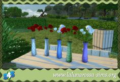 Sims 4 Vase with Roses