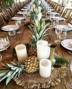 New Tropical Bridal Shower Ideas Rehearsal Dinners 19 Ideas Tropical Bridal Showers, Tropical Party, Wedding Centerpieces, Wedding Table, Centrepieces, Pineapple Centerpiece, Tropical Centerpieces, Aloha Party, Photo Deco