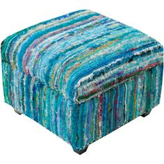 This lovely ottoman from the Malcolm collection by Art of Knot mixes form and function in this beautiful décor piece. Envoking a trendy design, this furniture piece can easily meld into your home or office. Accent Furniture, Living Room Furniture, House Furniture, Furniture Ideas, Blue Ottoman, Blanket Storage, Palette, Accent Decor, Home Accessories
