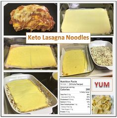 Missing Lasagna on your low carb/keto lifestyle? Try these! Made from eggs and cream cheese this entire recipe has less than 2 carbs! Whipped in a blender and thrown in the oven it doesn't get any easier! Make the noodles then make your lasagna as you like!