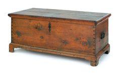 Pennsylvania poplar blanket chest, ca. 1780, 22''