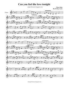 AnaProfeMusic: Partitura Can you feel the love tonight - Sheet Music - Elton John Alto Sax Sheet Music, Saxophone Music, Violin Sheet Music, Music Sheets, Jazz Songs, Jazz Music, Sound Of Music, Beginner Piano Music, Trumpet Sheet Music