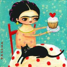 """'Frida Folk-Art   by Tasha Parkinson"""""""