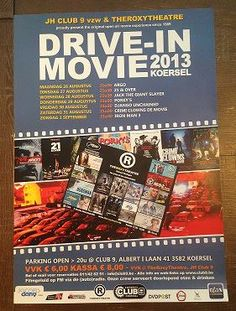 Affiche en flyer voor drive in movie 2013
