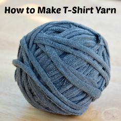 An easy, photographic guide to recycling t-shirts into yarn for knitting, crafts, crochet, etc.