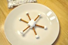 Make your own snowflake snack