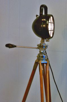 German Coal Miner's lamp conversion floor lamp by WyldwoodMarket, $425.00