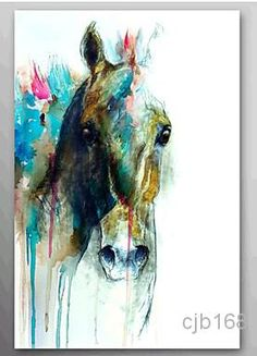 Wholesale Kissing Balls - Buy Hand Painted Large Oil Painting Canvas Abstract Modern Art Wall Pictures Art Sets Animal Abstract Horse Head Oopp059, $41.89 | DHgate