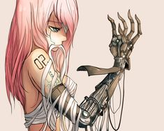 megurine luka pink hair techgirl vocaloid |