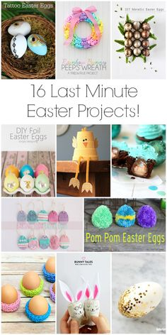 In case the holiday has snuck up on you, here are 16 great last minute Easter projects you can do in time for Easter weekend! Easter Projects, Easter Crafts, Crafts For Kids, Easter Ideas, Diy Projects, Holiday Fun, Holiday Crafts, Holiday Ideas, Easter Gift Baskets