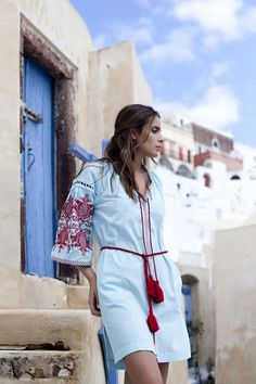 Inspired by and made for Greek islands, Ancient Kallos resort wear promises holidaymakers even more color style while on vacation. Greek Fashion, Vacation Style, Beach Look, Photo Instagram, Resort Wear, Kurti, Beauty Women, Style Me, Photos
