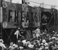 Indiana State Fair 1934 Circus Freak Show Old Circus, Circus Art, Vintage Circus Photos, Vintage Circus Performers, Vintage Photographs, Circus Photography, Steampunk Circus, Sideshow Freaks, Human Oddities