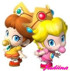 Omg these two little princesses Peach and Daisy from Mario were such adorable babies!!!!! Too bad I don't have Rosalina (the space princess in Mario galaxy 1) :-(