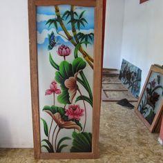 Front Door Design Wood, Glass Front Door, Glass Door, Glass Painting Designs, Paint Designs, Pooja Rooms, Glass Design, Ganesh, Ladder Decor