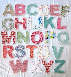 Rag letters. Super easy to make.