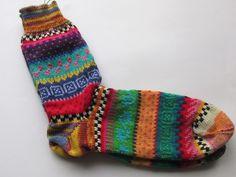 Socken - Bunte Socken Ole Gr. 42/43 - ein Designerstück von Lotta_888 bei DaWanda